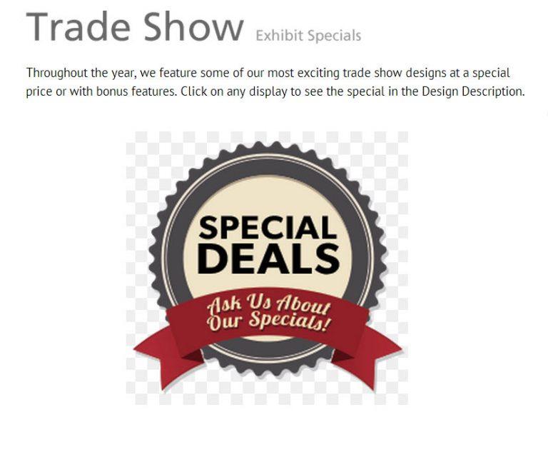 Trade Show Exhibit Specials
