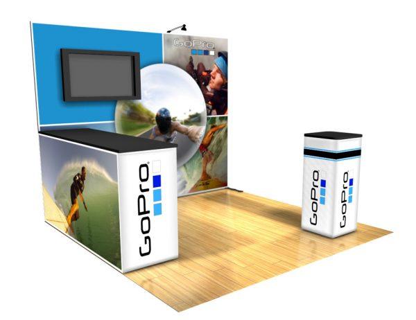 Panoramic 10x10 display trade show B