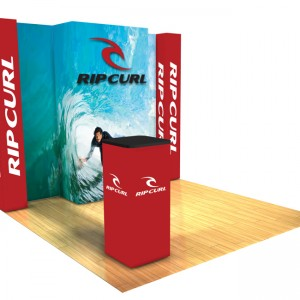 Panoramic 10x10 display trade show D