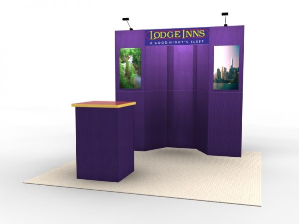 FF-101 Intro Portable Tradeshow Display Fabric Flat Panel