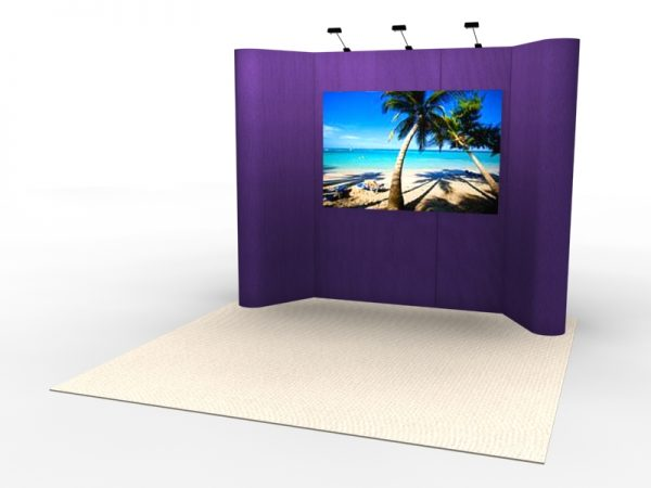 FF-107 Intro Portable Tradeshow Display Fabric Flat Panel