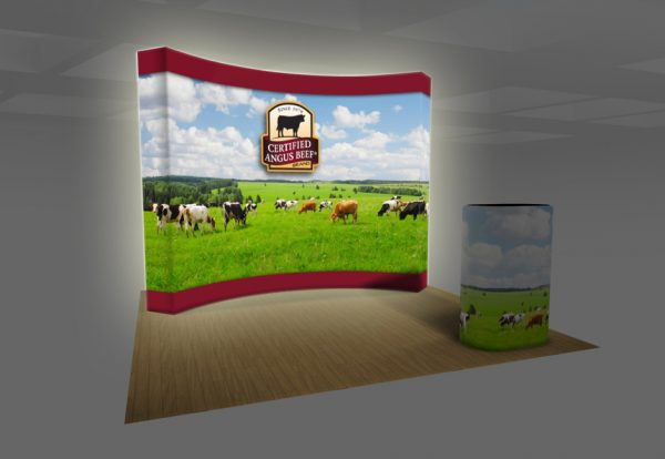 VBurst Backlit Curved Fabric Pop-up Kit 10 ft
