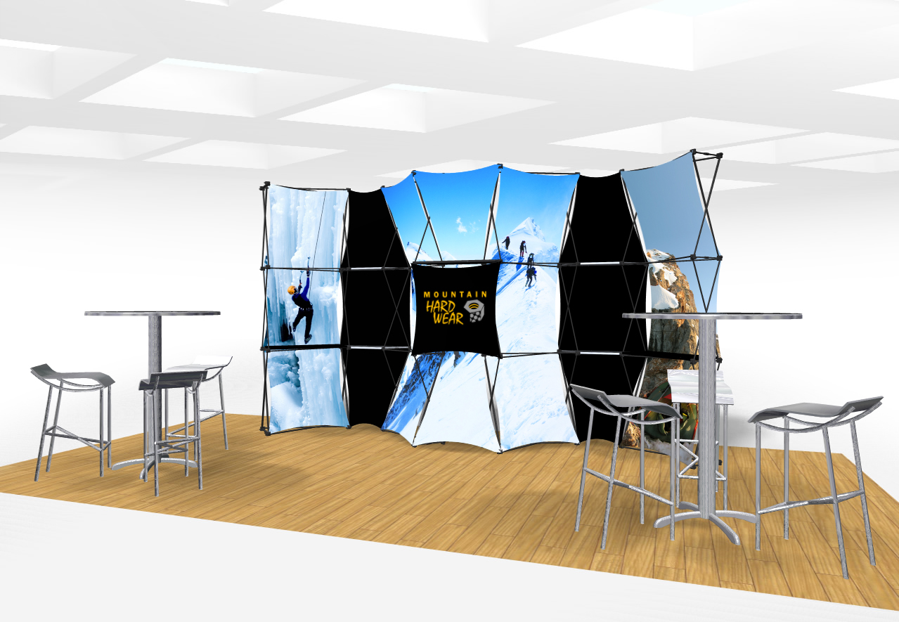 Xpressions CONNEX 20 Ft Trade Show Display Kit D