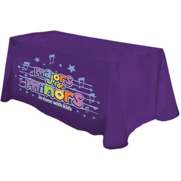 Table Cover Dye Sublimation Front Panel Printing 6 ft Table