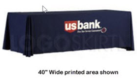 LOGOThrow Screen Printed Table Cover