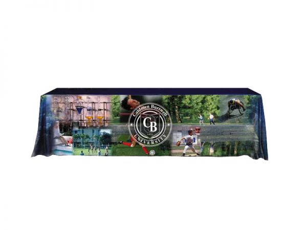 Table Cover Dye Sublimation Front Panel Printing 8 ft Table