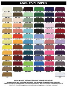 100% PolyPoplin Table covers fabric selection