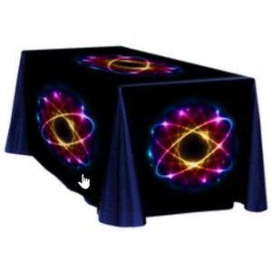 Table Throw Full Color Dye Sublimation Printing 4 ft Table